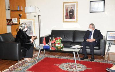 Comunicado de prensa : Recepción del Sr. Marc Trenteseau, Embajador del Reino de Bélgica en Marruecos