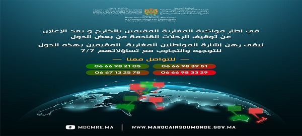 Support for Moroccans residing abroad after the suspension of flights from certain countries