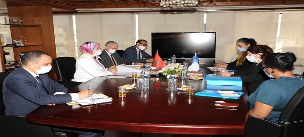استقبلت السيدة نزهة الوفي الوزيرة المنتدبة المكلفة بالمغاربة المقيمين بالخارج، وفدا عن منظمة الأمم المتحدة للطفولة (اليونيسيف)