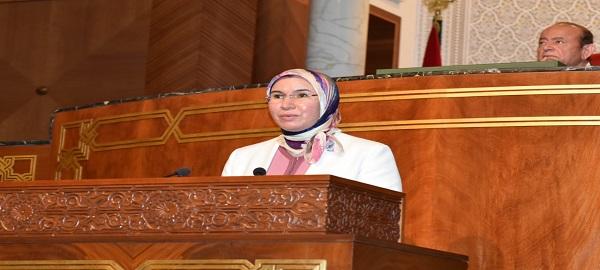 قدمت السيدة نزهة الوفي، الوزيرة المنتدبة المكلفة بالمغاربة المقيمين بالخارج  مشاريع قوانين يوافق بموجبها على اتفاقيات دولية يوم  الثلاثاء 13 أبريل  بجلسة عمومية  بمجلس المستشارين.