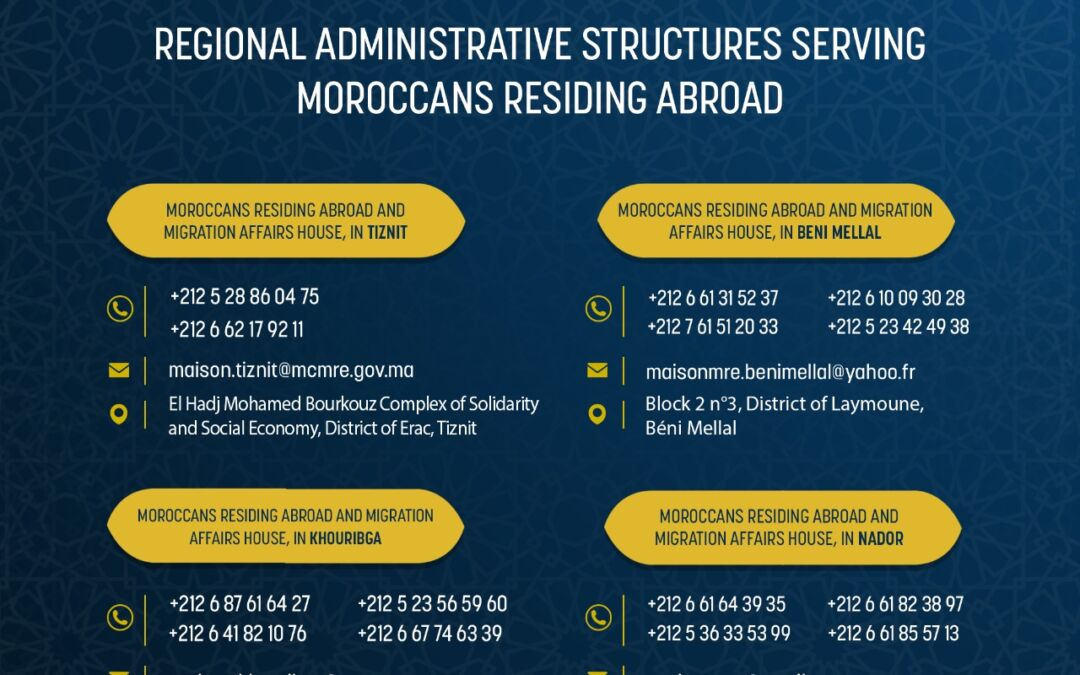 The Delegate Ministry in charge of Moroccans Living Abroad strengthens its monitoring system